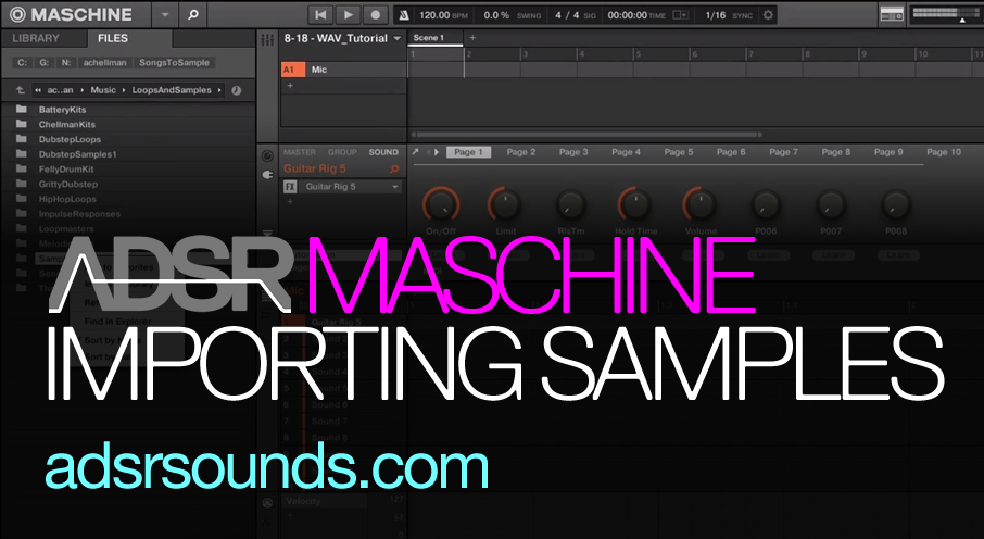 Importing and Tagging WAV Samples with Maschine
